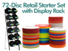 72 Disc Disc Golf Retail Starter Set with Display Rack