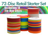 72 Disc - Disc Goilf Retail Starter Set (with Tie-dye discs)